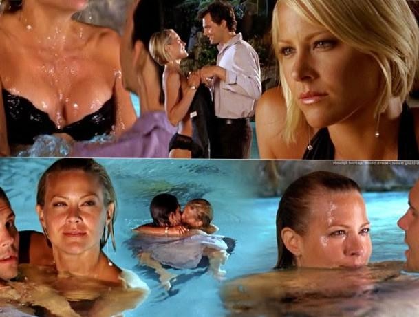 Brittany Daniel in steamy pool scenes