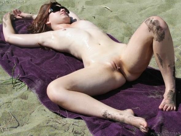 Cunts on Beach - Girl Masturbating Beach