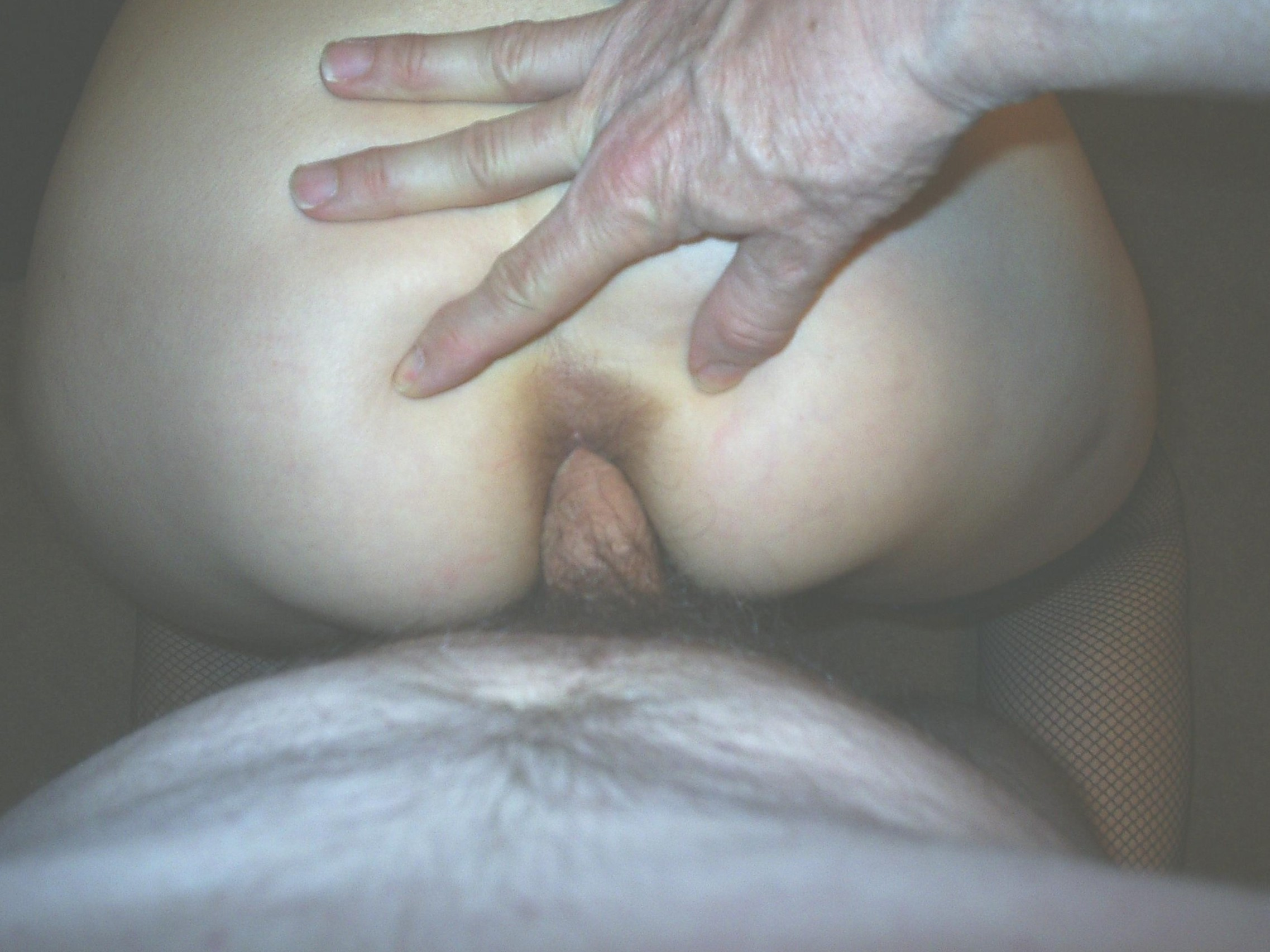 My cock in her arse.