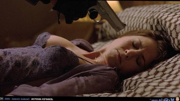 Jennifer Aniston shows cleavage