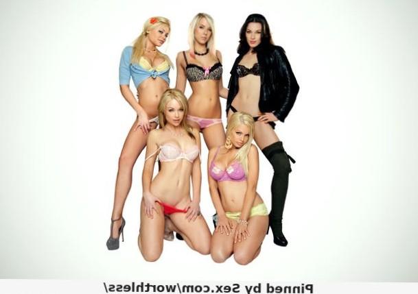 Pornstar group pose