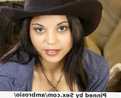 Horny latina Brenda Lins wears her sexy cowgirl outfit and bounces up and down a hard schlong