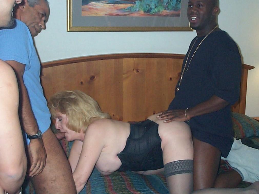 older mature swinger wife grandma granny 3some bareback gangbang hotel
