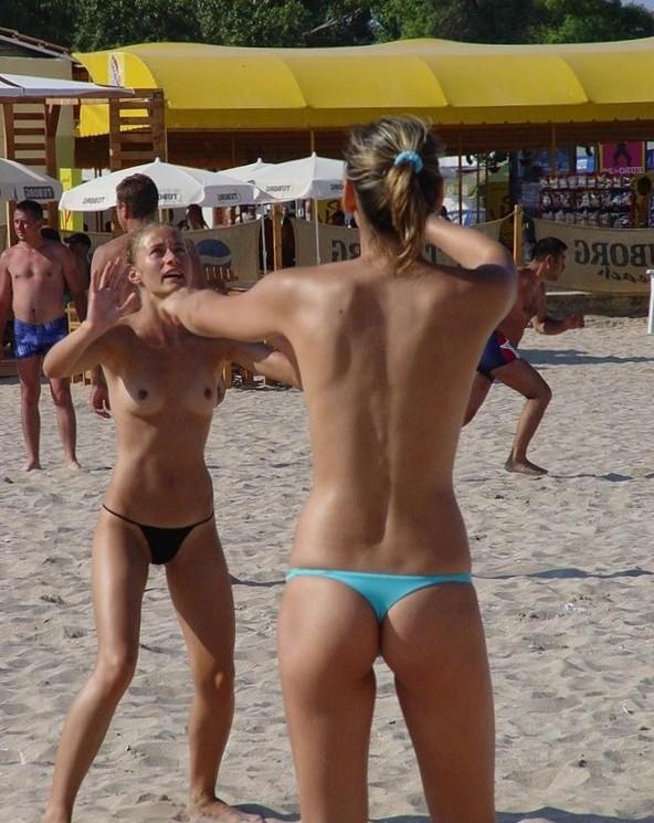 Boobs on Beach - Public Beach Fucked