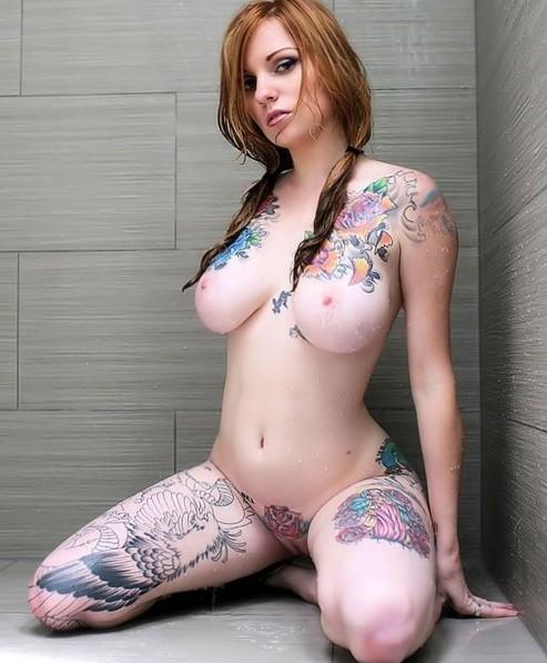 Tattoo'd Redhead