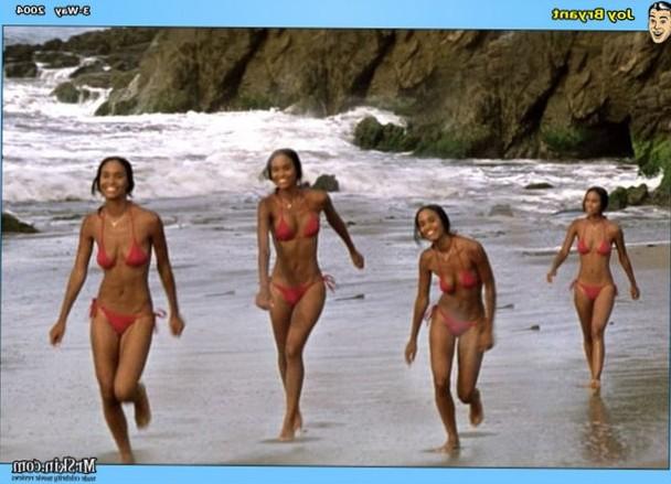 Joy Bryant beach run timelapse