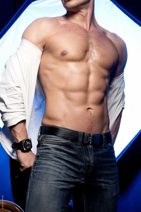 shirt off...