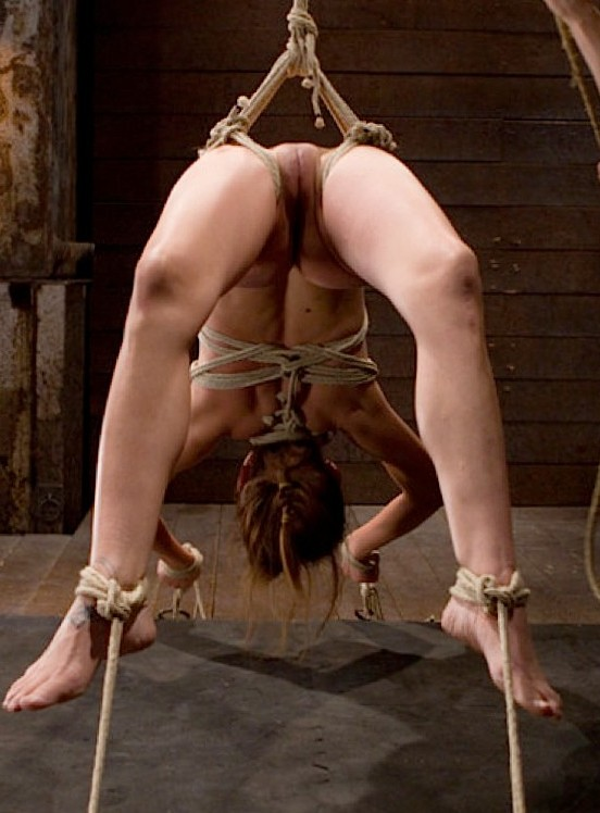 Sex slave all tied up.