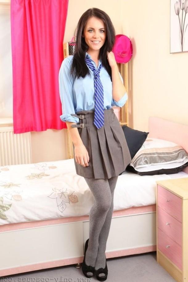 Cute British schoolgirl
