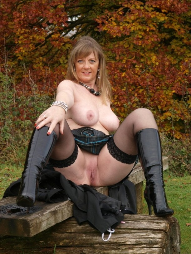 outdoor mature babe