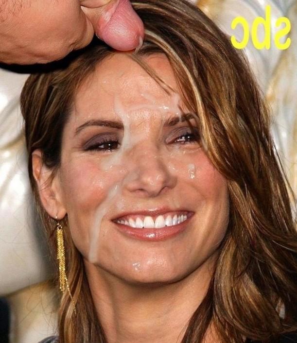 Sandra Bullock face cumm