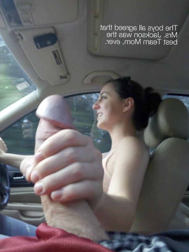 Handjob while driving.